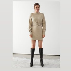 & OTHER STORIES Relaxed Belted Mini Dress